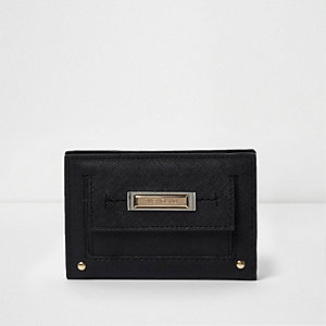 Black mini foldout purse