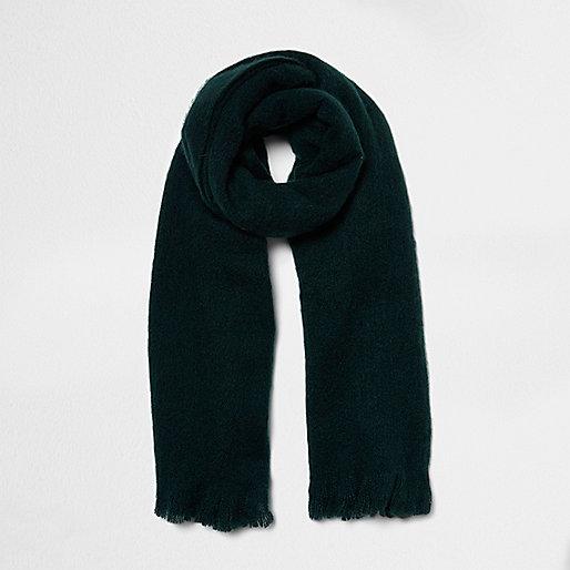 Green soft blanket scarf