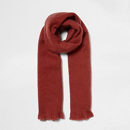 Dark pink soft blanket scarf