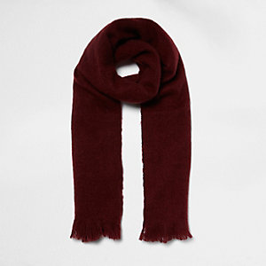 Dark red soft blanket scarf