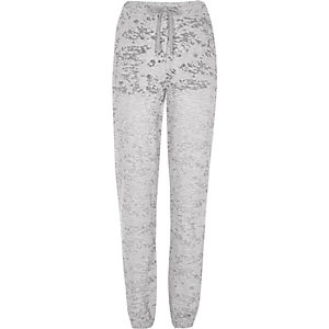 Grey marl burnout joggers