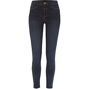 Dark blue Molly skinny fit jeggings