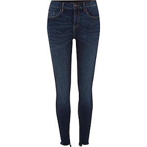 Amelie– Jean super skinny bleu foncé authentique