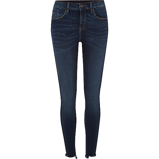 Dark authentic blue Amelie super skinny jeans