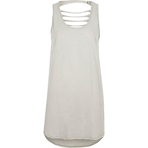 Grey ladder back tank top