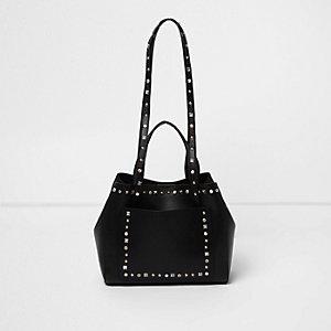 Zwarte kleine handtas met studs