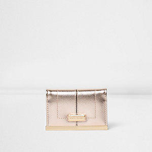 Rose gold card holder