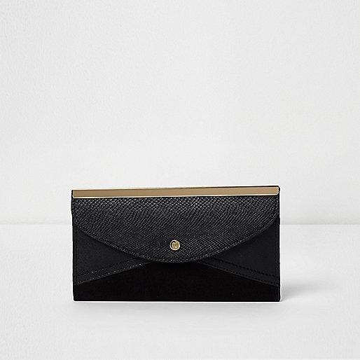 Black envelope slim purse
