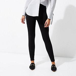 Schwarze Jersey-Leggings