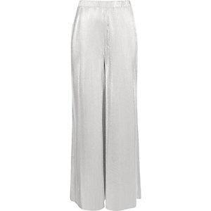 Silver metallic wide leg palazzo pants