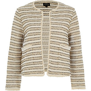 Cream and gold stripe jacket