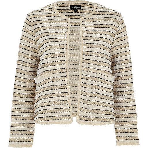 Cream and gold stripe jacket