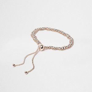 Lasso-Halskette mit Strasssteinchen