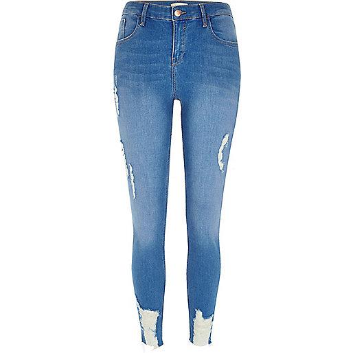 Blue Amelie ripped super skinny jeans - Jeans - Sale - women