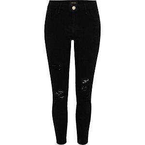 Black Amelie ripped super skinny jeans