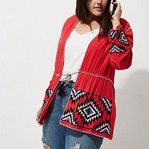 Plus – Kimono à manches longues motifs aztèques