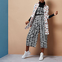 Black Design Forum eye print culottes