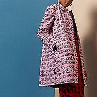Pink Design Forum eye print coat