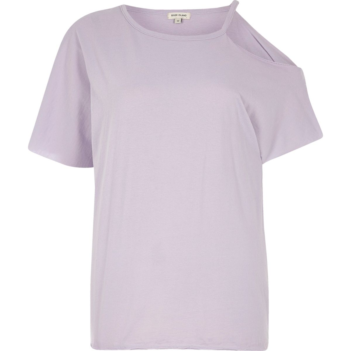 Purple one shoulder T-shirt