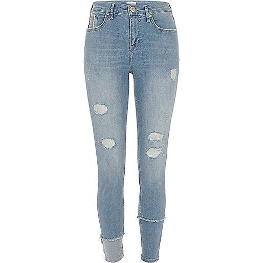 molly mittelblaue superskinny jeans im used look. Black Bedroom Furniture Sets. Home Design Ideas