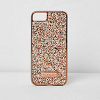 Rose gold glitter phone case