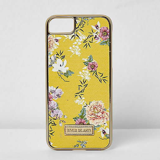 Yellow floral iPhone 6/7 case