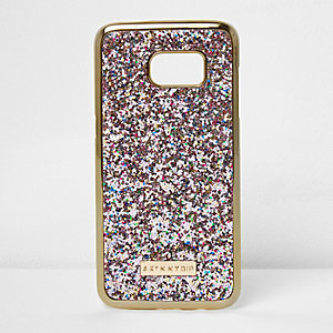Gold Skinny Dip glitter Samsung S7 phone case
