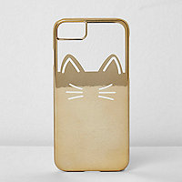 Gold foil cat phone case