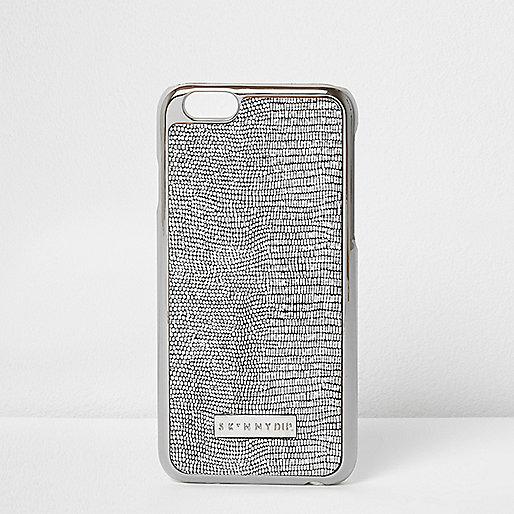 Silver glitter skinny dip phone case