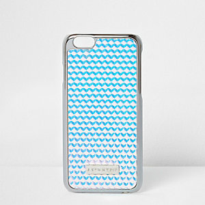 Silver and blue skinny dip iPhone 6 case