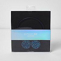 Skinny Dip – Blaue, glitzernde Kopfhörer