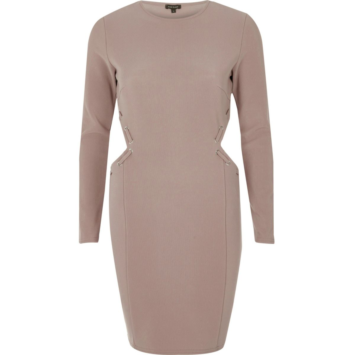 Pink cut out eyelet bodycon dress