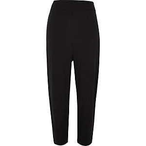 Black jersey harem pants