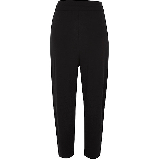 Black jersey harem pants