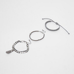 Silver tone tassel bracelet pack