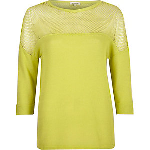 Yellow mesh panel top