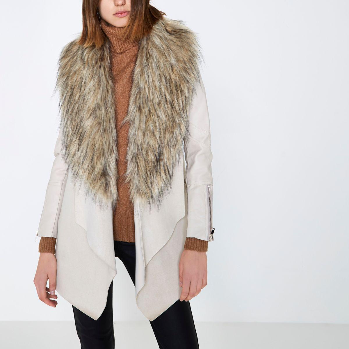 Faux fur coats for women sale