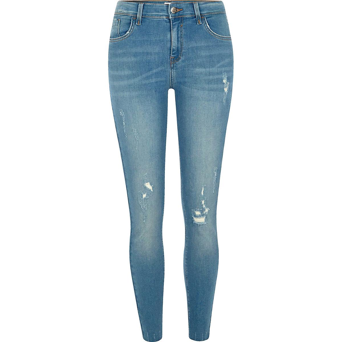 Blue Amelie distressed super skinny jeans