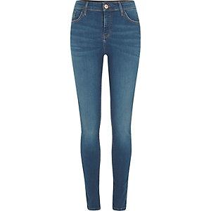 Amelie– Jean super skinny bleu moyen