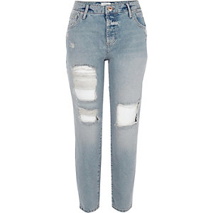 Boyfriend-Jeans im Used-Look