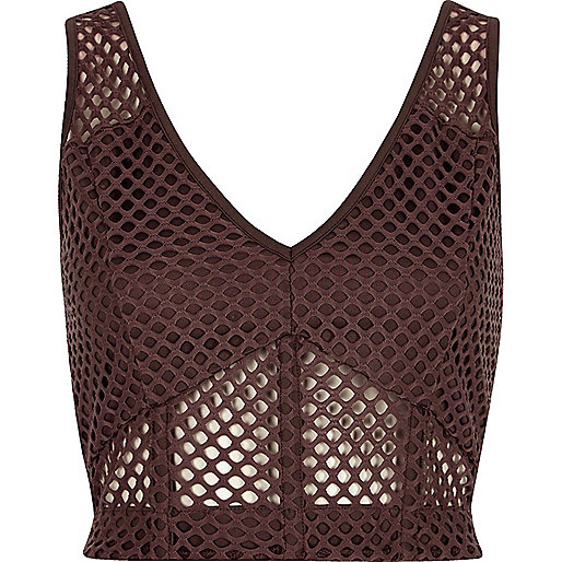 Purple mesh fitted bralet