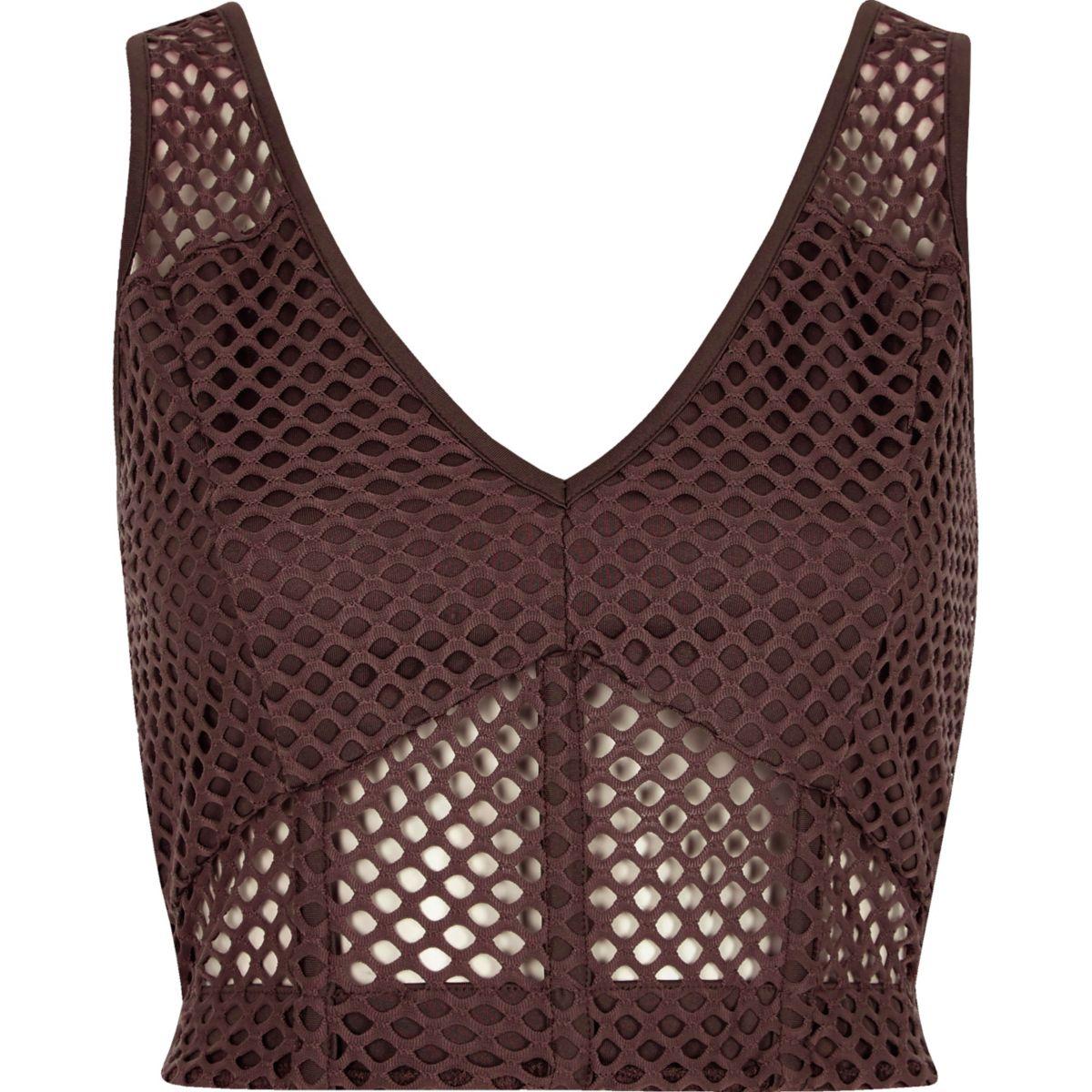 Purple mesh fitted bralette