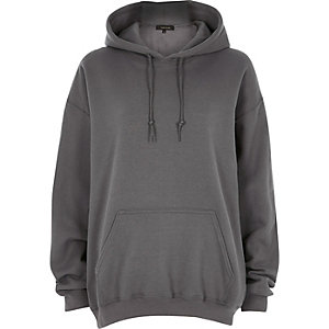 Dark grey oversized hoodie