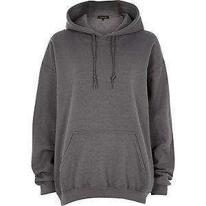Donkergrijze oversized hoodie