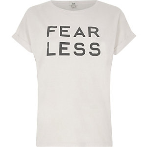 T-shirt imprimé « Fearless » rose