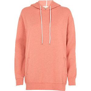 Coral orange oversized hoodie