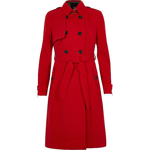 red belted trench coat coats coats jackets women. Black Bedroom Furniture Sets. Home Design Ideas