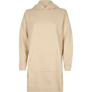 Cream oversized hoodie dress