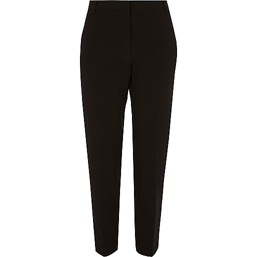 Black tapered smart trousers