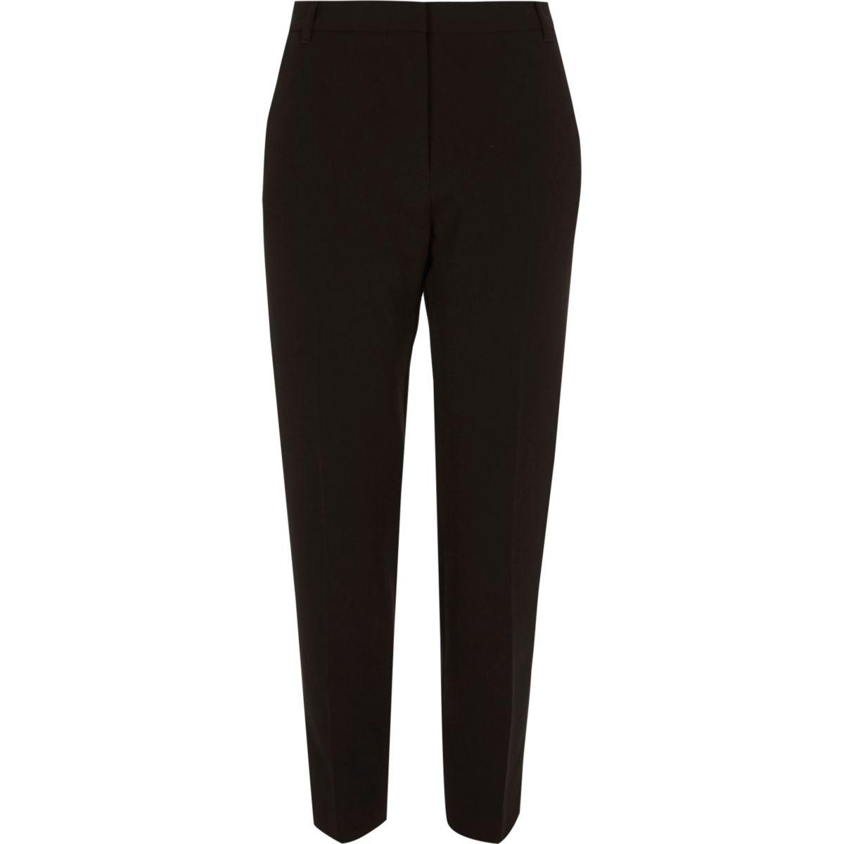 Black tapered smart pants